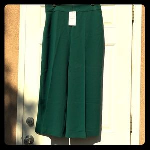 ZARA WOMAN green wide leg pants NWT
